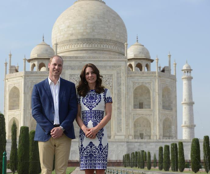 prince william and kate middleton at the taj mahal
