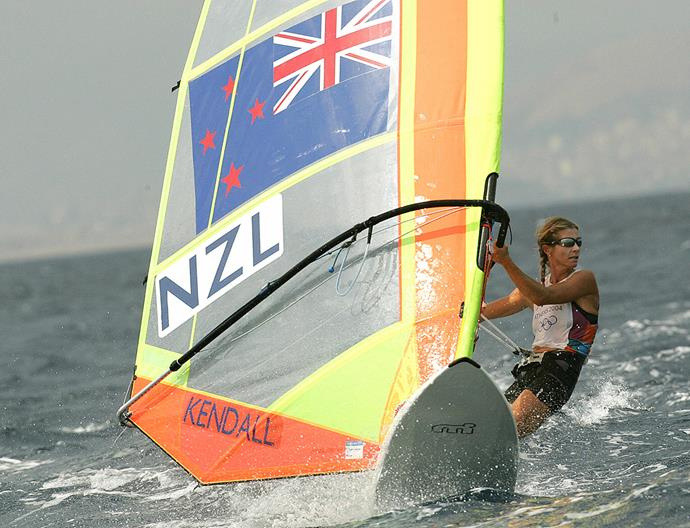 Barbara competing on the water in 2004.