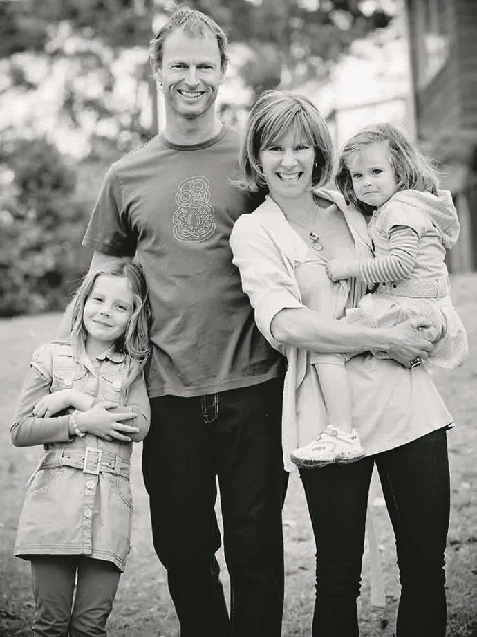 Barbara with her husband Shayne and their daughters Samantha and Aimee, who are now in their teens.