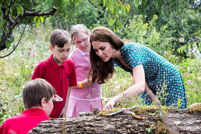 Kate set up a treasure hunt and went bug spotting with the children. *(Image: Getty)*