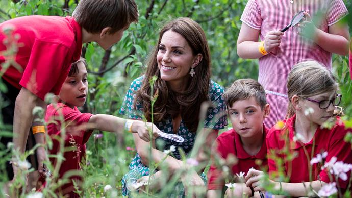 kate middleton in the garden with children