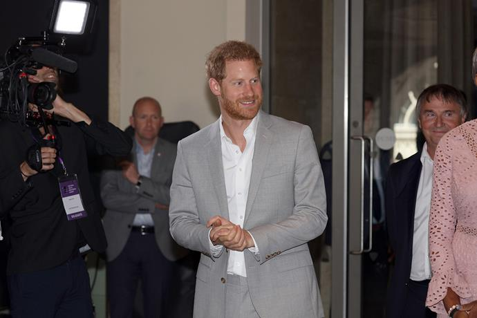 During a speech at the UK's first National Youth Mentoring Summit on Tuesday, Prince Harry opened up about how he hopes he'll be a good role model for Archie. *(Image: Getty)*