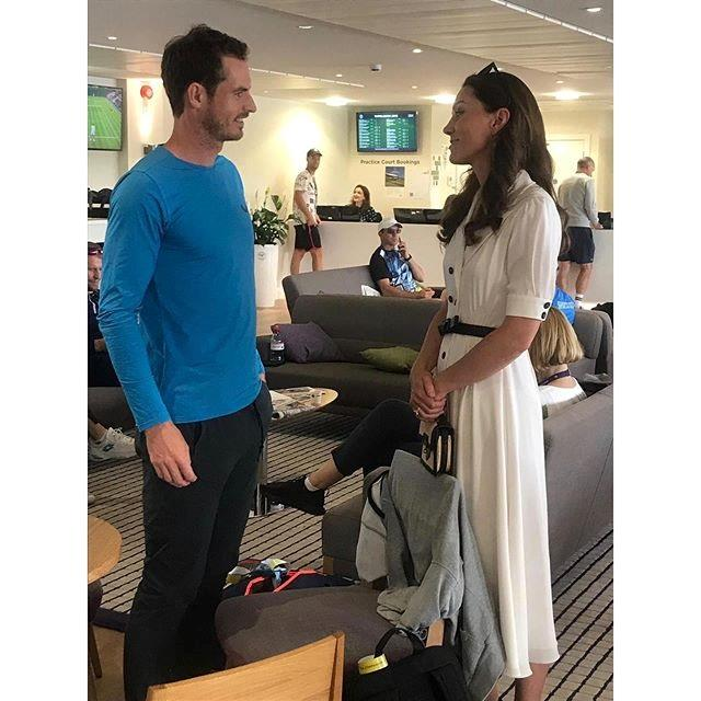 Kate met British tennis pro Andy Murray at the second day of the Wimbledon Championship. *(Image: Instagram / Kensington Palace)*