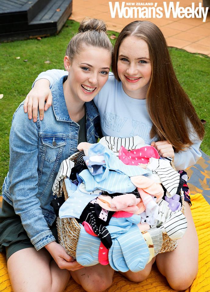 Lucy and Maddy say the hard work they put into Socks For Smiles is worth it.