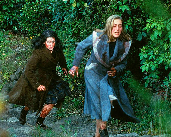 Melanie Lynskey (left) and Kate Winslet portrayed Pauline and Juliet respectively in the 1994 film *Heavenly Creatures.*
