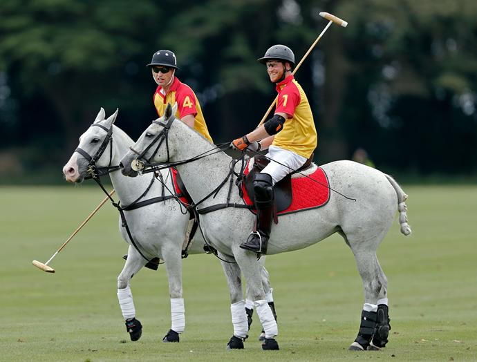 The two royal brothers are set to play polo together at the King Power Royal Charity Polo Day. *(Image: Getty)*