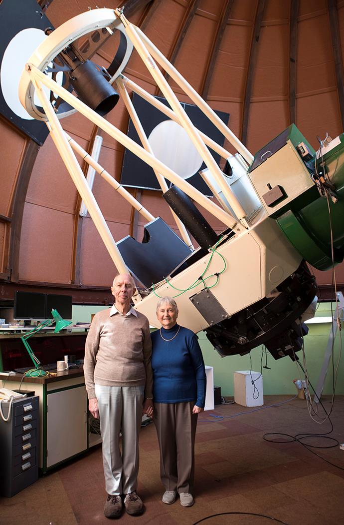 Pamela and Alan inside the Mt John Observatory.