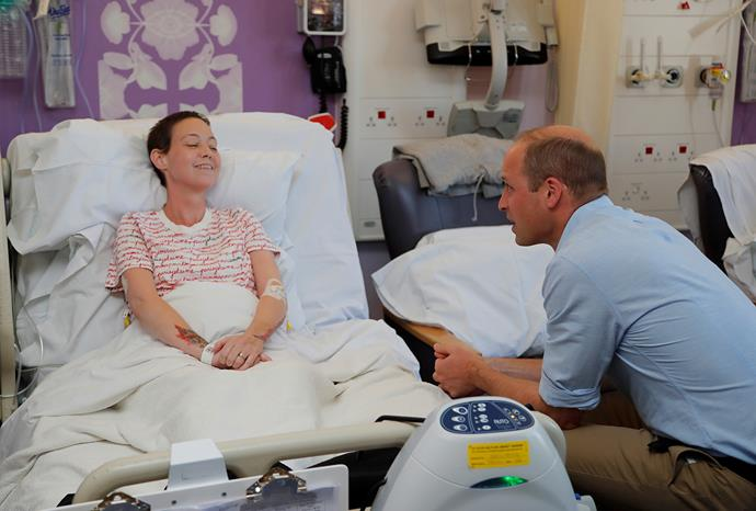 William visited the hospital to find out how it offers psychological support to patients, staff and family. *(Image: Getty)*
