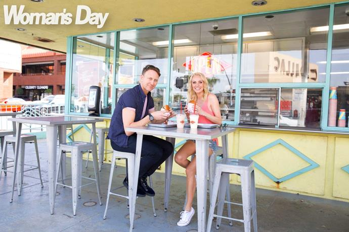 **1pm:** Lunch at the burger bar with friend Ian Waite, who is visiting from the UK. Ian and Camilla danced together for 12 years.