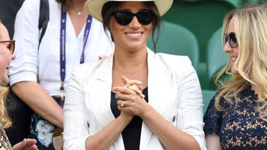 Duchess Meghan makes a surprise appearance at Wimbledon to cheer on her good friend Serena Williams