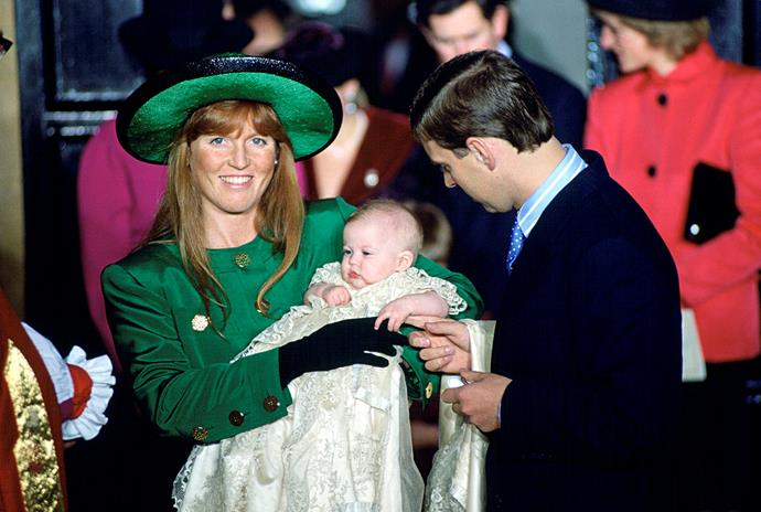 **Princess Beatrice of York, 1988** <br><br> The Duke of York and Sarah Ferguson's first child, Princess Beatrice, was christened at the Chapel Royal at St James' Palace in December 1988. <br><br> *(Image: Getty)*