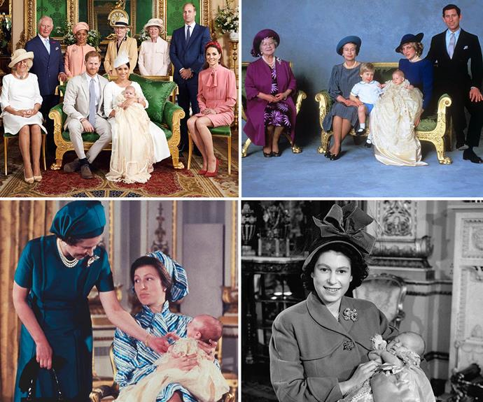 royal christenings throughout the years