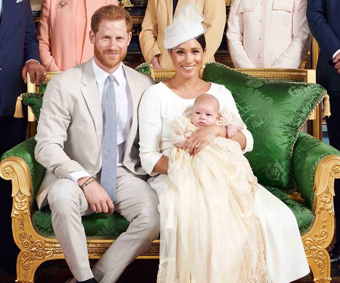 prince harry archie meghan markle christening