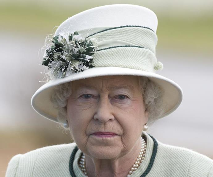 queen elizabeth serious