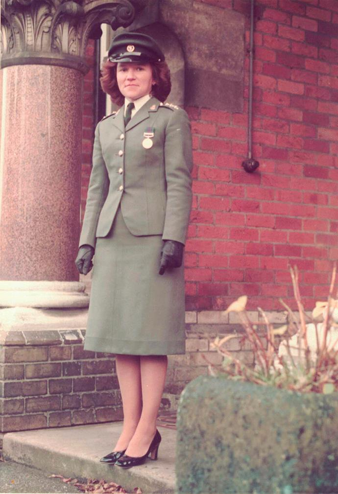 Lindy in the early 1980s, in her British Army days.