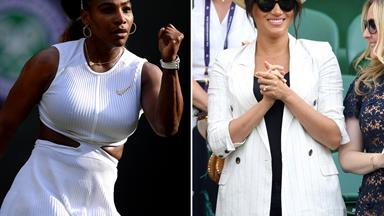 Serena Williams responds to the criticism Duchess Meghan has received following her appearance at Wimbledon