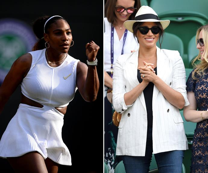 serena williams and meghan markle wimbledon