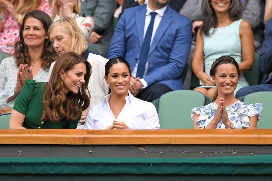 Pippa joined her sister Kate and Duchess Meghan at the Wimbledon Tennis Championships earlier this year. *(Image: Getty)*