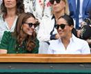What feud? Duchess Catherine and Duchess Meghan look happy as they attend Wimbledon's women's final together