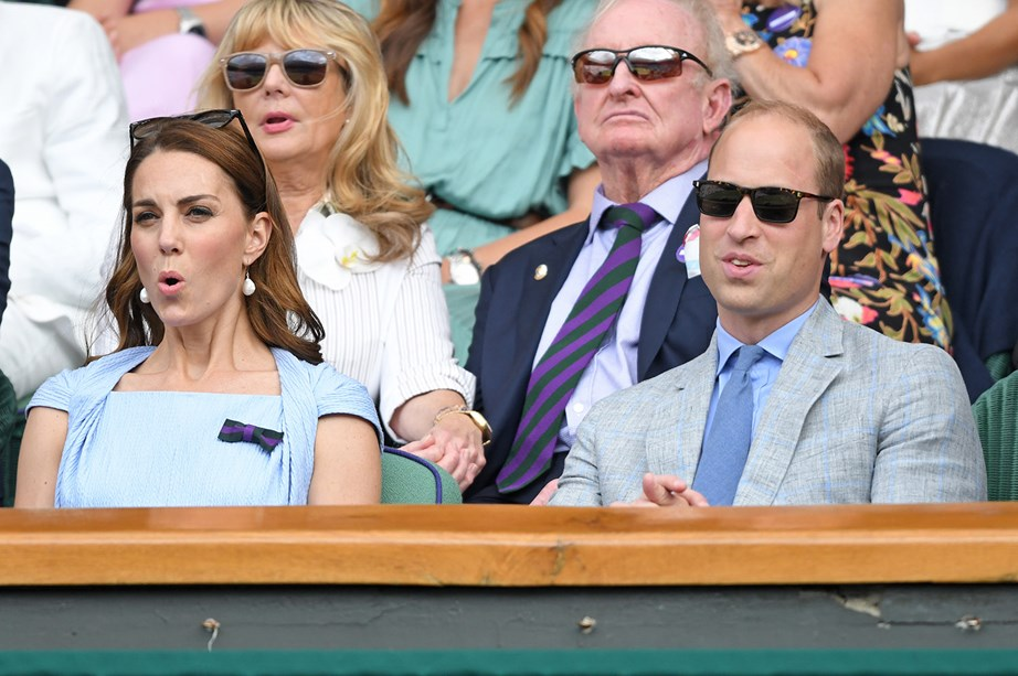 From the expression on Kate's face, it's clear it was a pretty tense match. *(Image: Getty)*