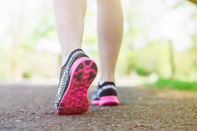 Brisk walking can be an effective way to lose weight and is something you can do virtually anywhere. *(Image: Getty)*