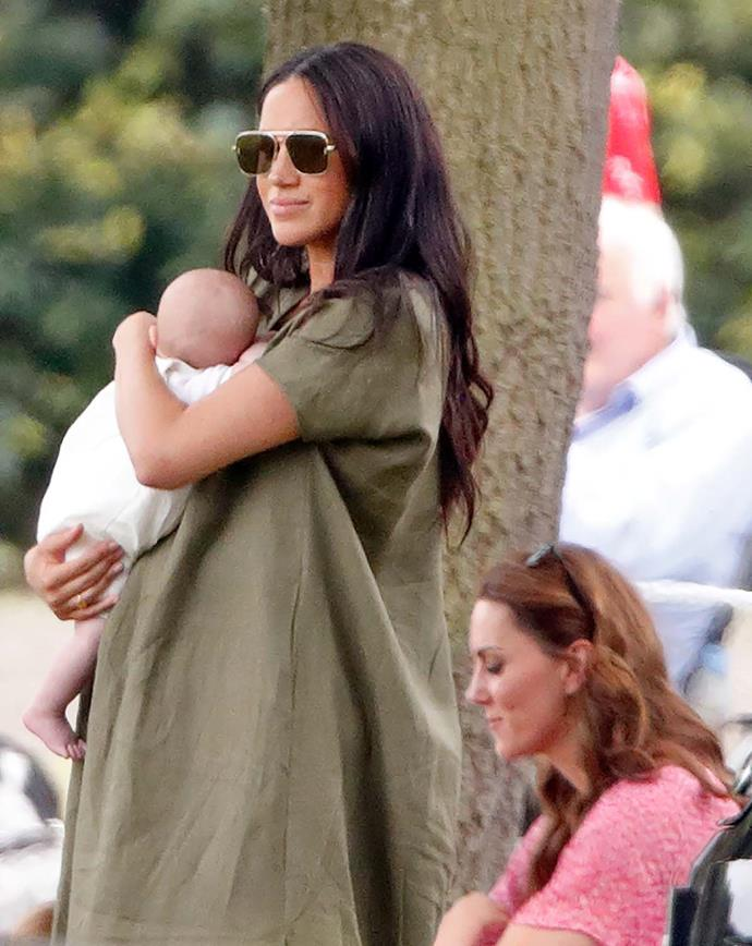 Meghan brought Archie along to the polo last week. Image: *Getty*