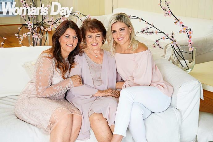 Gemma with her mum Michelle and nana Yvonne.
