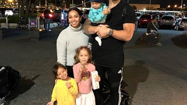 Sonny Bill Williams adorably surprises his daughters after returning home from All Blacks duty