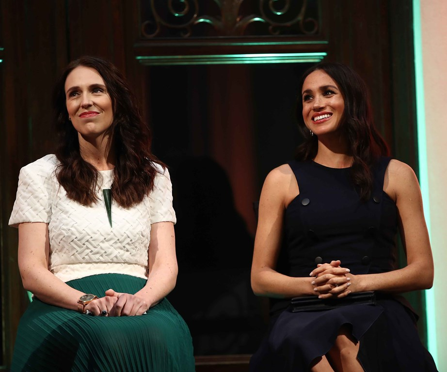 PM Jacinda Ardern is just 1 of 15 women who grace the cover of British Vogue's September issue - guest edited by Duchess Meghan. *(Image: Getty)*