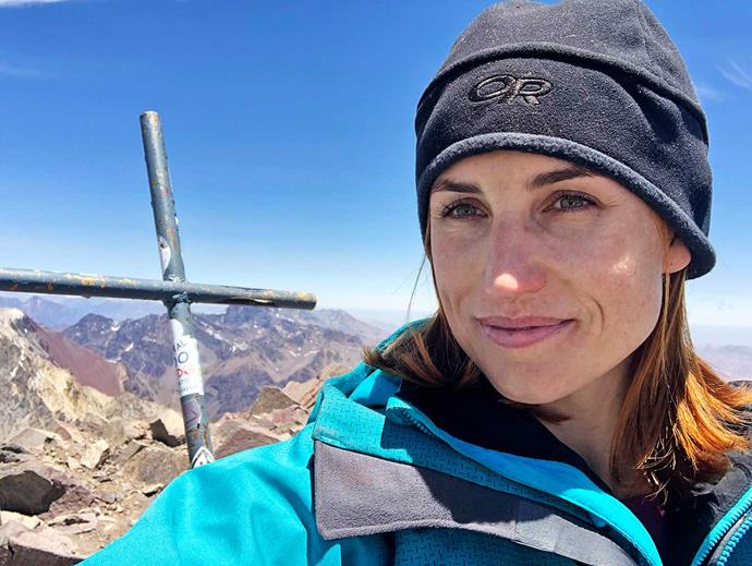 It was after this climbing trip to Mt Aconcagua that Sam found out she was pregnant.