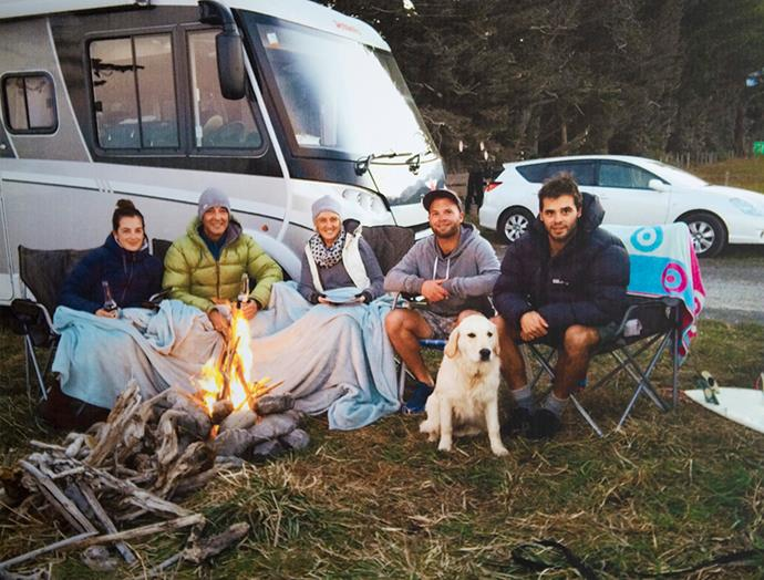 Before Paul died, the family explored New Zealand by campervan.