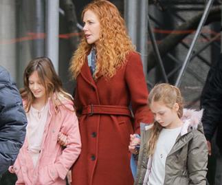 Nicole Kidman with daughters Sunday Rose and Faith
