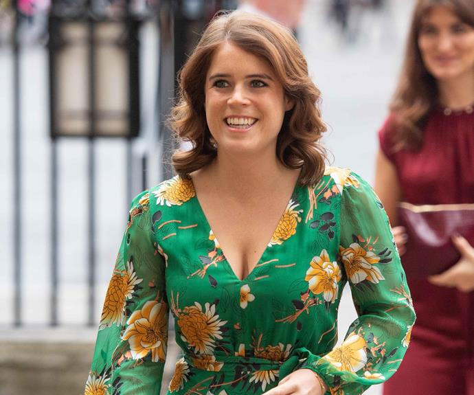 Princess Eugenie's podcast, which she'll co-host with her best friend Julia De Boinville, marks a first for the royal family. *(Image: Getty)*