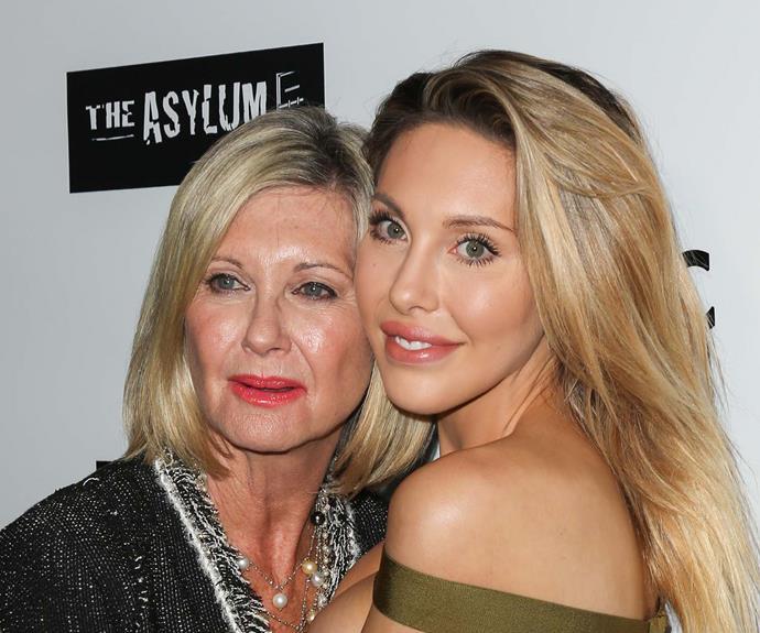 Olivia Newton-John with daughter Chloe Lattanzi