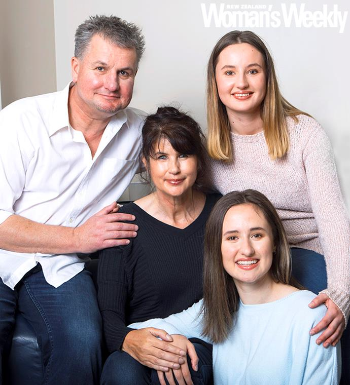 Because of the transplant, Lisa has been given more time to enjoy life with husband Tony and daughters Liana (in blue) and Analise.