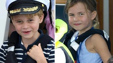See the adorable pics of Prince George and Princess Charlotte cheering on their parents at a charity regatta