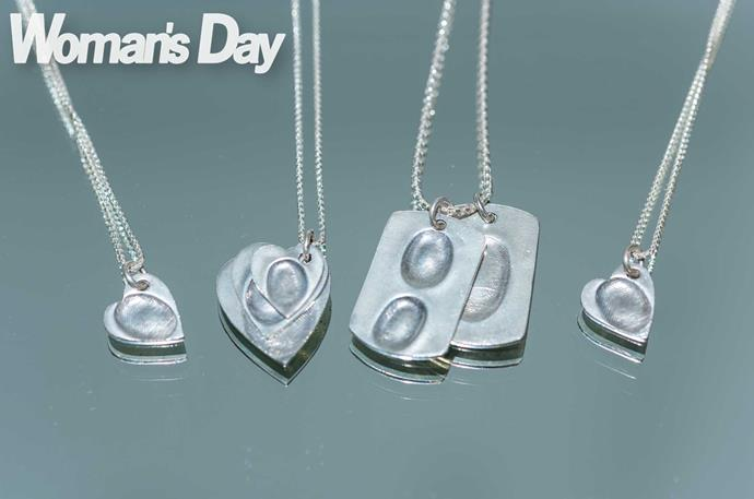 Forever with you – pendants with Litisha's fingerprint for the family.