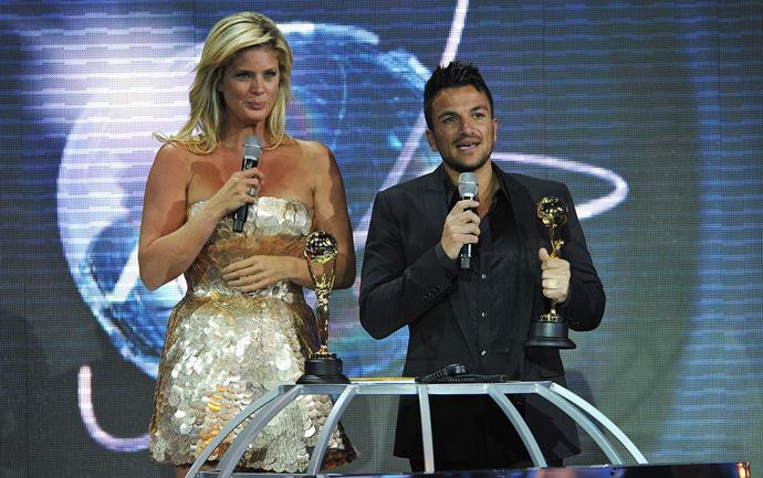Rachel Hunter and Peter Andre at the World Music Awards in 2010. *(Image: Getty)*