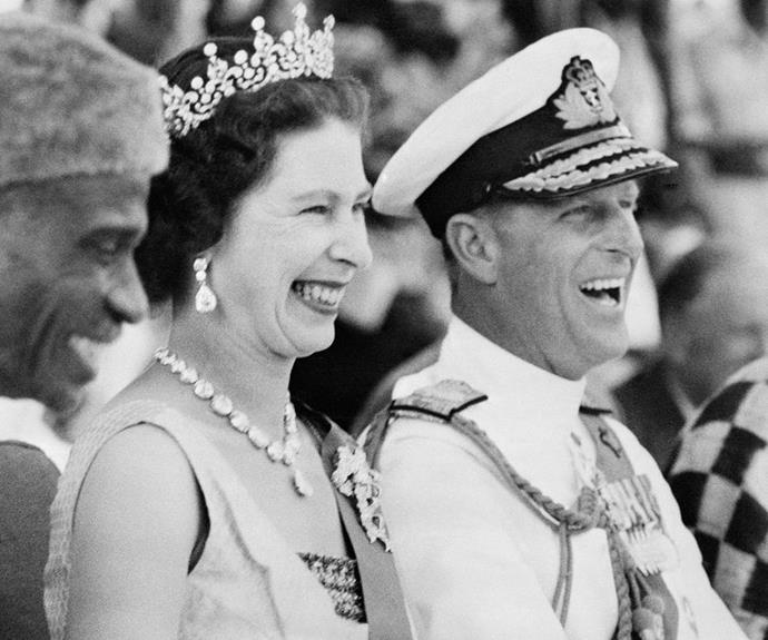 According to a royal author, Prince Philip's favourite anecdote about the Queen shows she's very cheeky. *(Image: Getty)*
