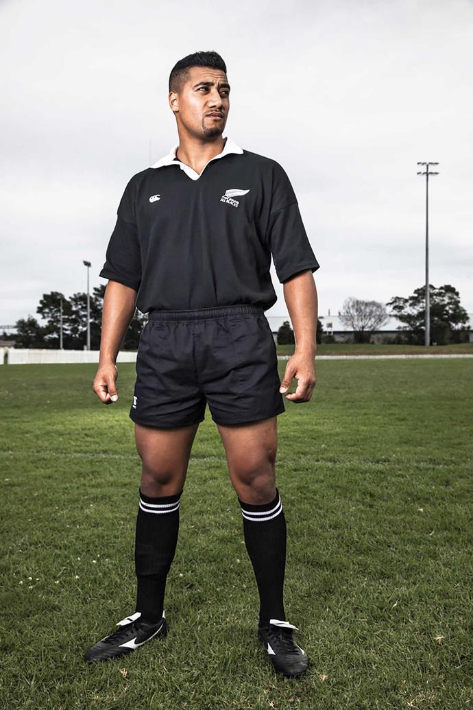Mosese cuts an imposing figure in the All Blacks kit. *Image: Supplied*