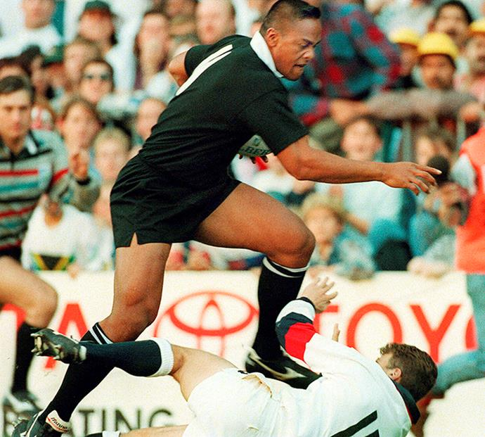 Jonah made a real impact on the 1995 World Cup and poor England fullback Mike Catt.