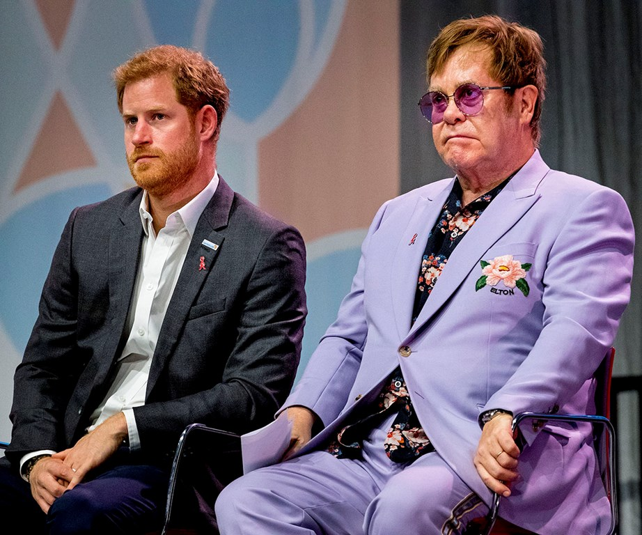 Sir Elton John, who was close friends with Harry's late-mother Princess Diana, spoke out in defence of the Sussexes. *(Image: Getty)*
