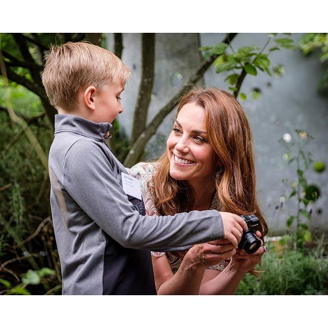 Kate met Josh during a Royal Photographic Society workshop for children supported by Action for Children - although he hilariously admitted he had no idea who she was! *(Image: Instagram/@KensingtonRoyal)*