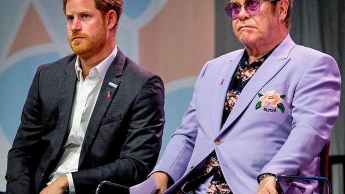 prince harry and sir elton john serious