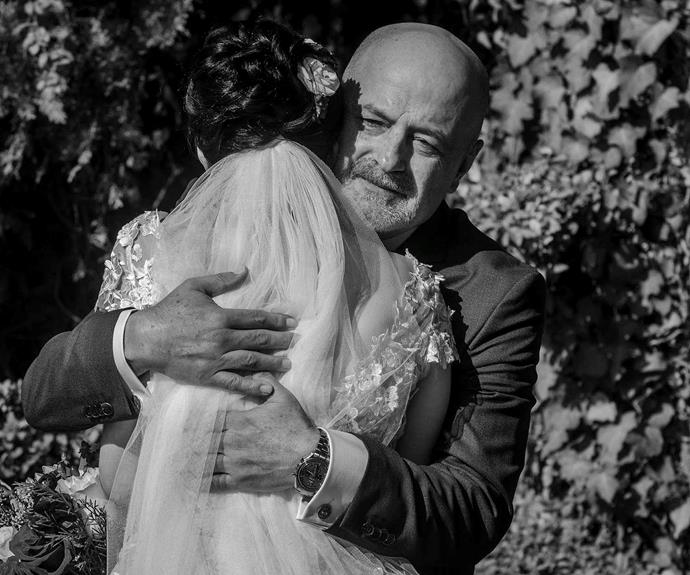 "Cassie and her father on her wedding day.      Image: [Erik Zavala Photography](http://www.erikzavalaphoto.com/|target=""_blank"")"