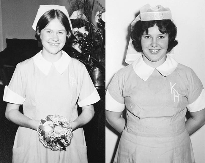 Newly graduated Karitane nurses Stephanie (left) and Adrienne, both aged 18.