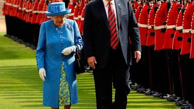 The Queen reportedly joked Donald Trump's helicopters 'ruined' her lawn
