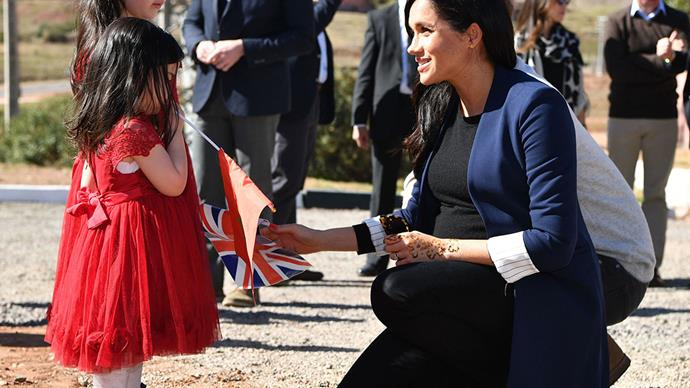 meghan markle and prince harry with children