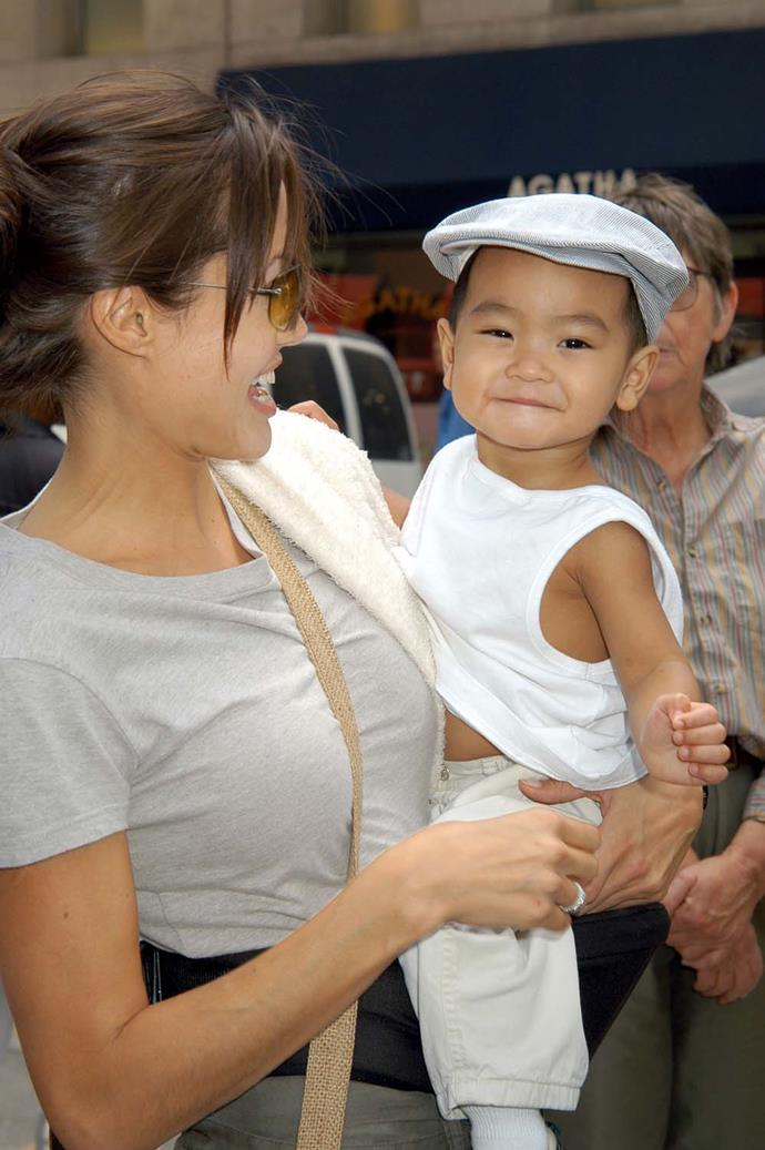 Angelina adopted Maddox in 2002.