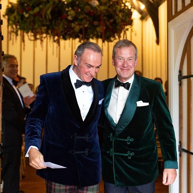 Lord Ivar Mountbatten (right) on his wedding day to James Coyle in September 2018. *(Image: Instagram/@ivar_mountbatten)*